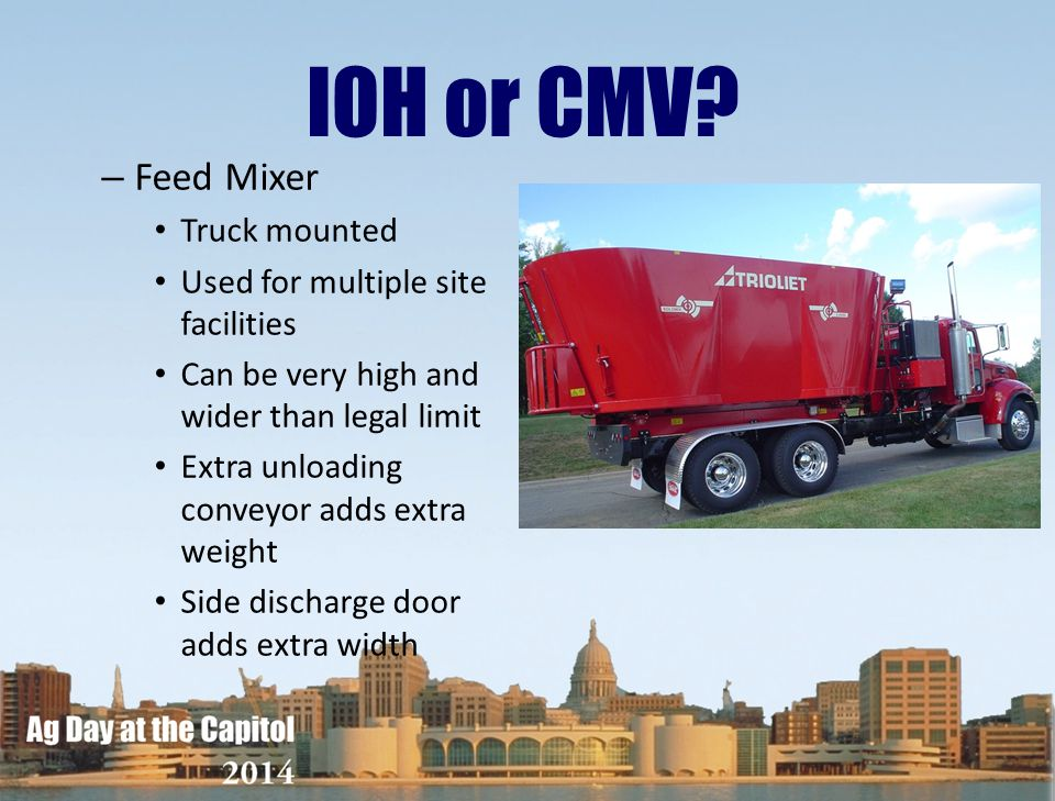 IOH or CMV Feed Mixer Truck mounted Used for multiple site facilities