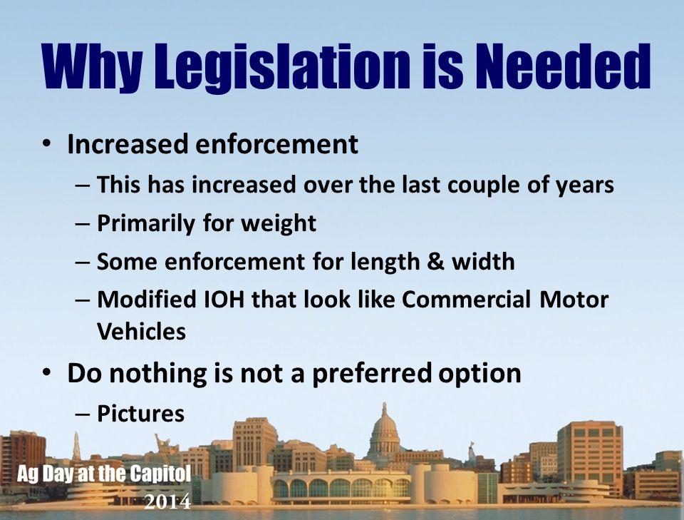 Why Legislation is Needed