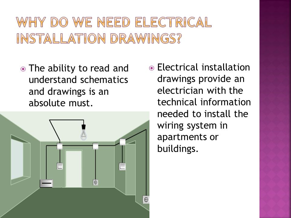 Why do we need electrical installation drawings