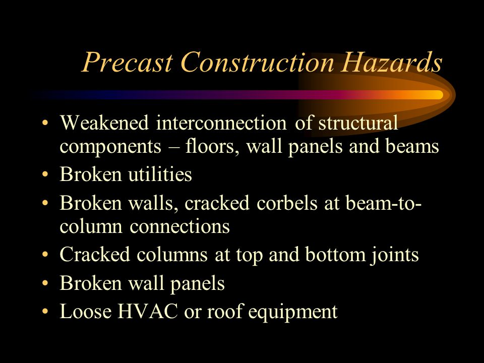Precast Construction Hazards