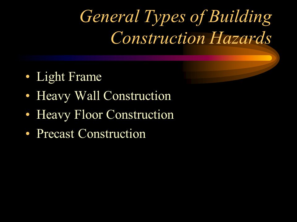 General Types of Building Construction Hazards