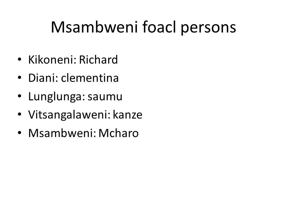 Msambweni foacl persons