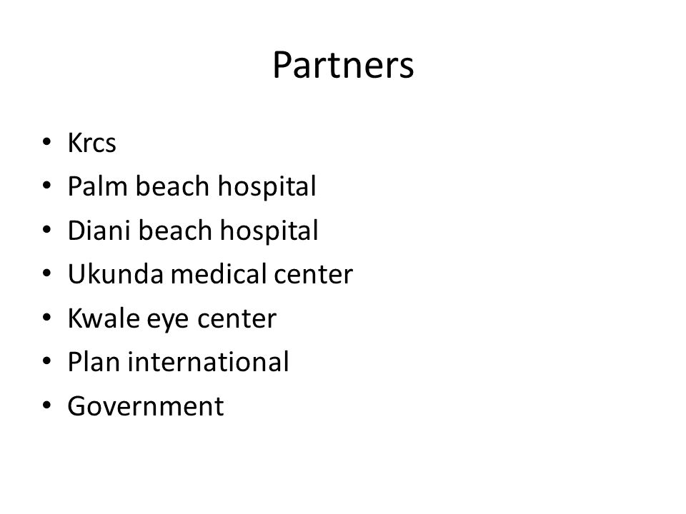 Partners Krcs Palm beach hospital Diani beach hospital
