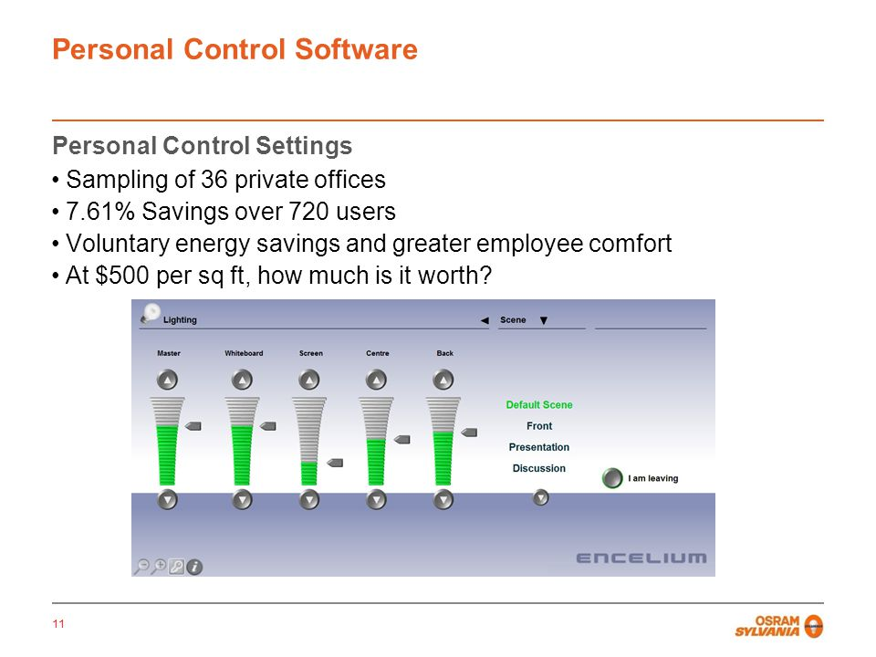 Personal Control Software