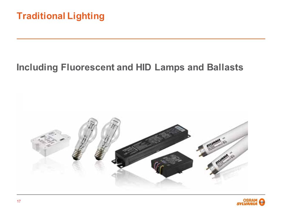 Including Fluorescent and HID Lamps and Ballasts