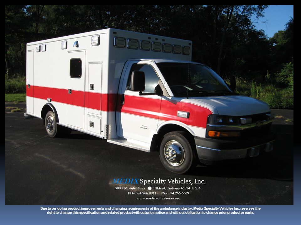 MEDIX Specialty Vehicles, Inc.