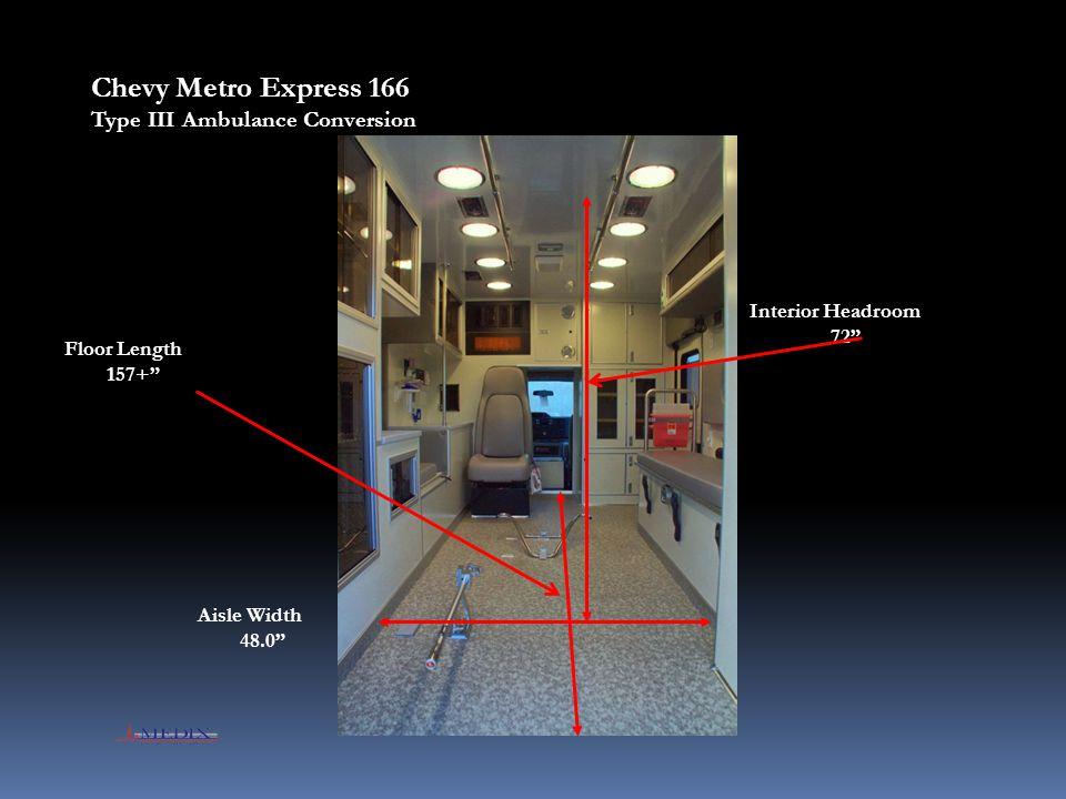 Chevy Metro Express 166 Type III Ambulance Conversion