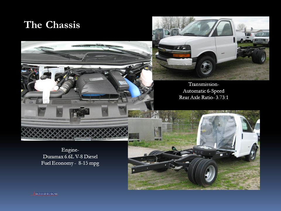 The Chassis Transmission- Automatic 6-Speed Rear Axle Ratio- 3.73:1