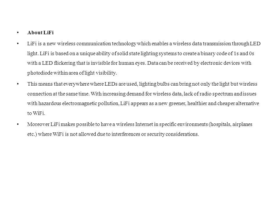 About LiFi