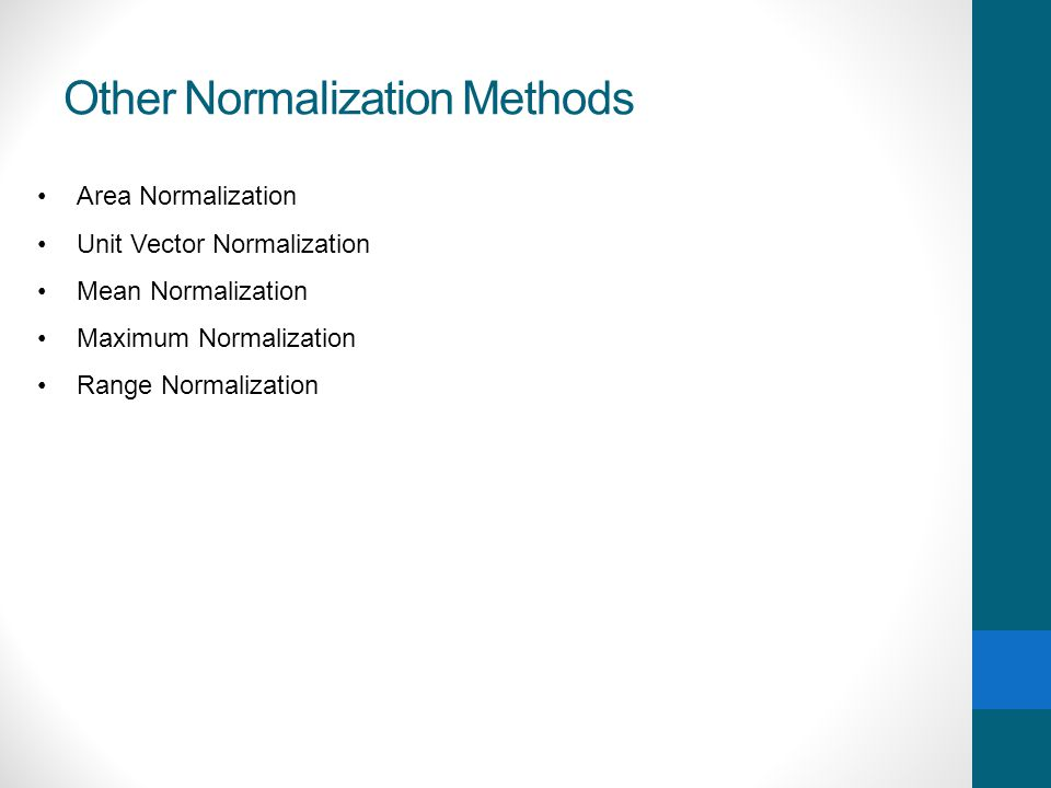 Other Normalization Methods