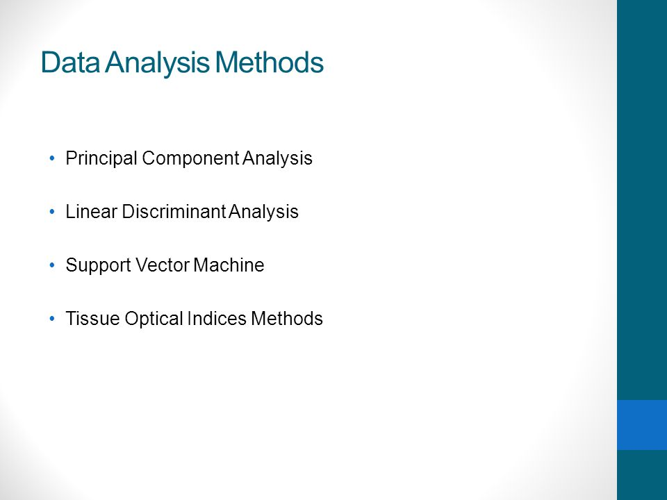 Data Analysis Methods Principal Component Analysis
