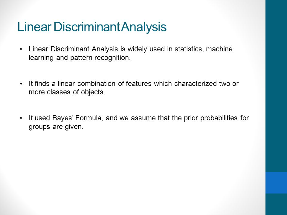 Linear Discriminant Analysis