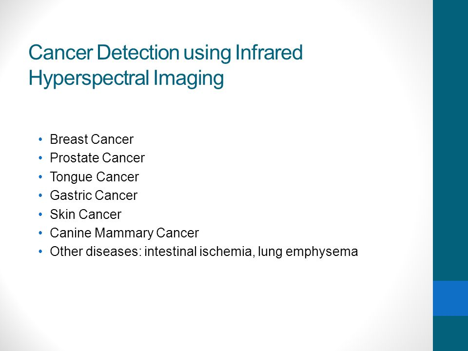 Cancer Detection using Infrared Hyperspectral Imaging