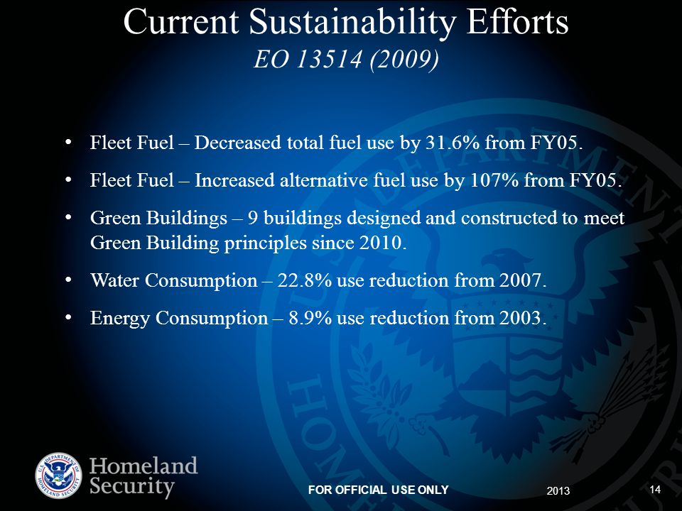 Current Sustainability Efforts