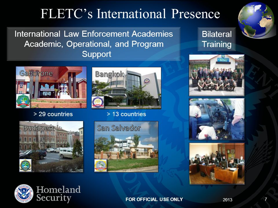 FLETC's International Presence
