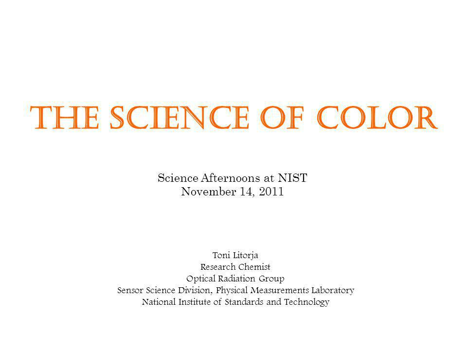 Science Afternoons at NIST