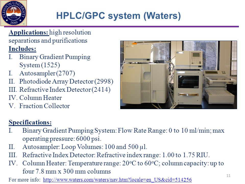 HPLC/GPC system (Waters)