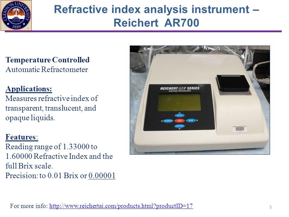 Refractive index analysis instrument – Reichert AR700