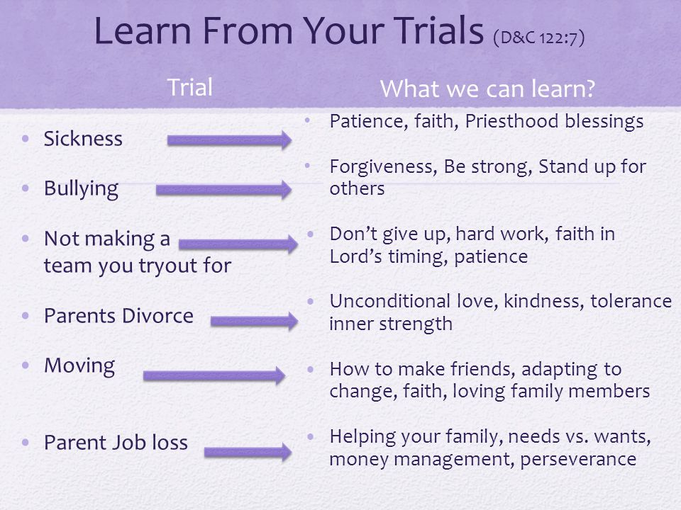 Learn From Your Trials (D&C 122:7)