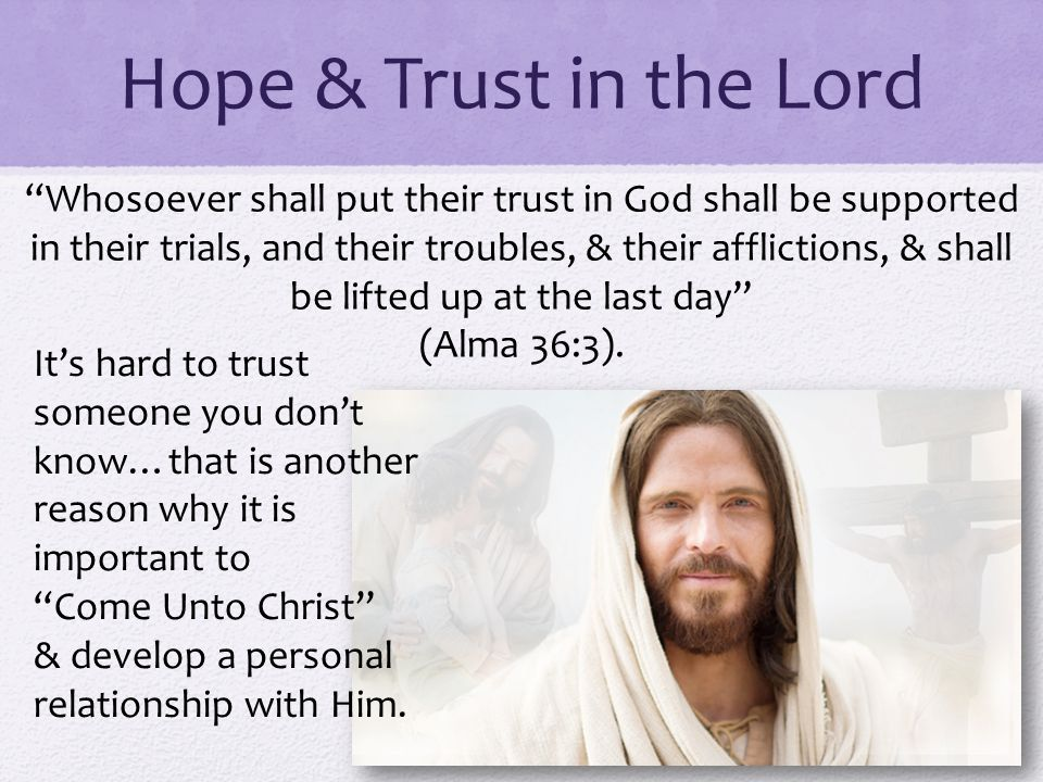 Hope & Trust in the Lord