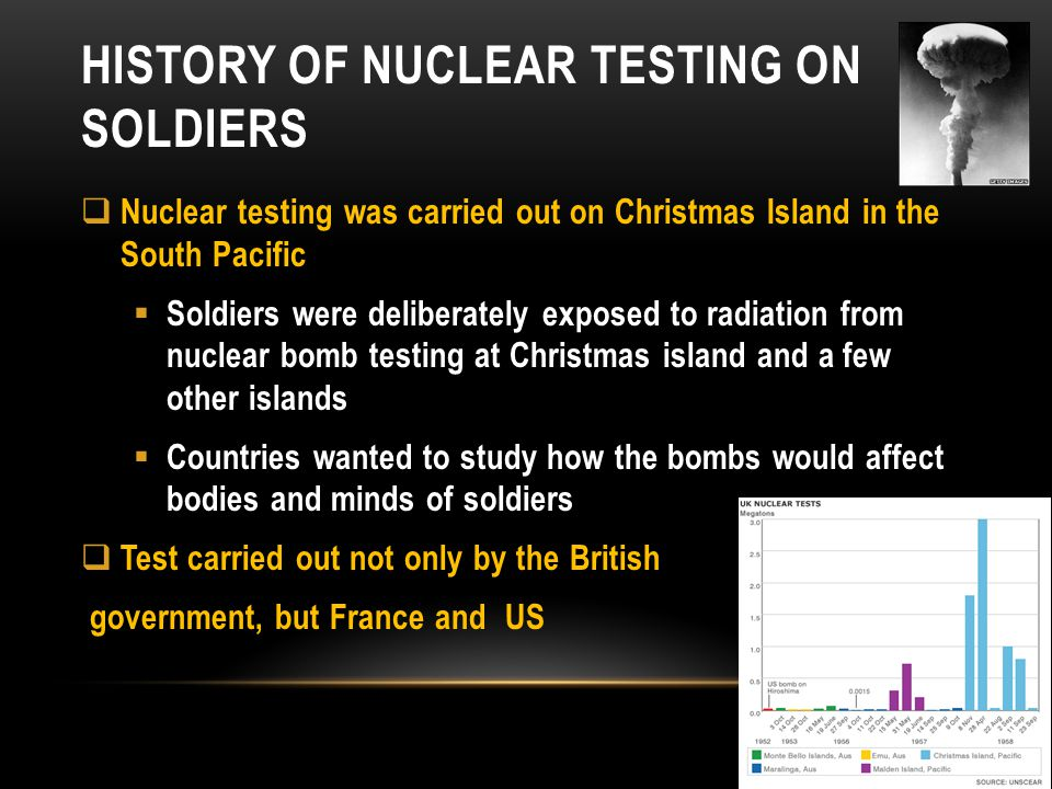 History of nuclear testing on soldiers