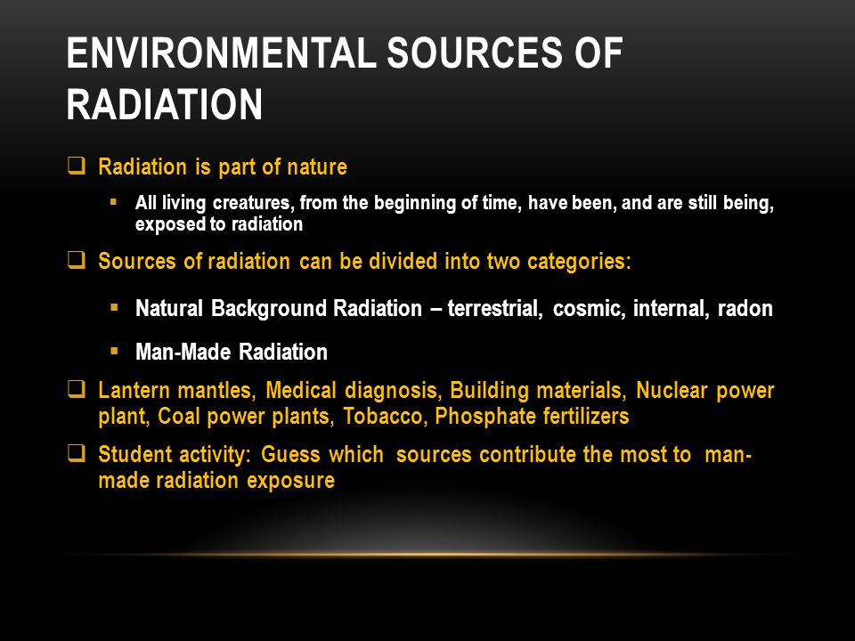 Environmental sources of radiation