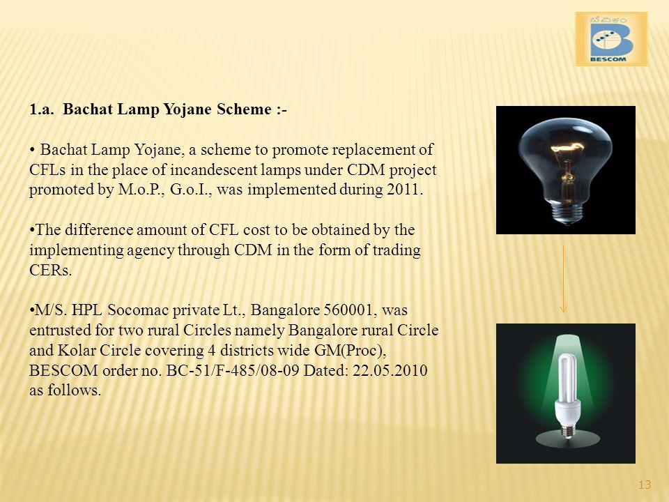 1.a. Bachat Lamp Yojane Scheme :-