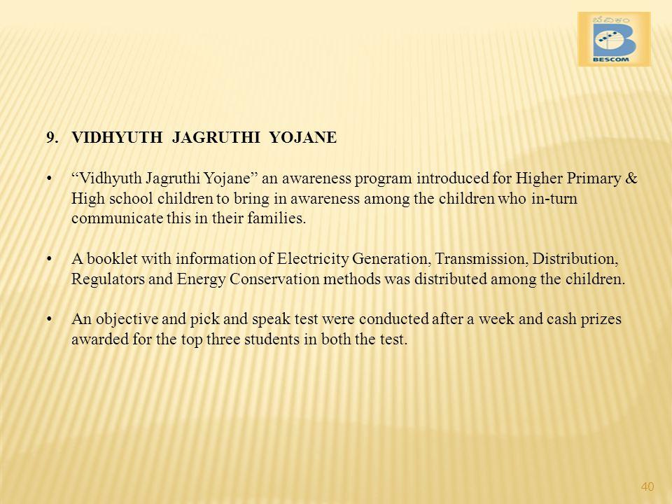 VIDHYUTH JAGRUTHI YOJANE