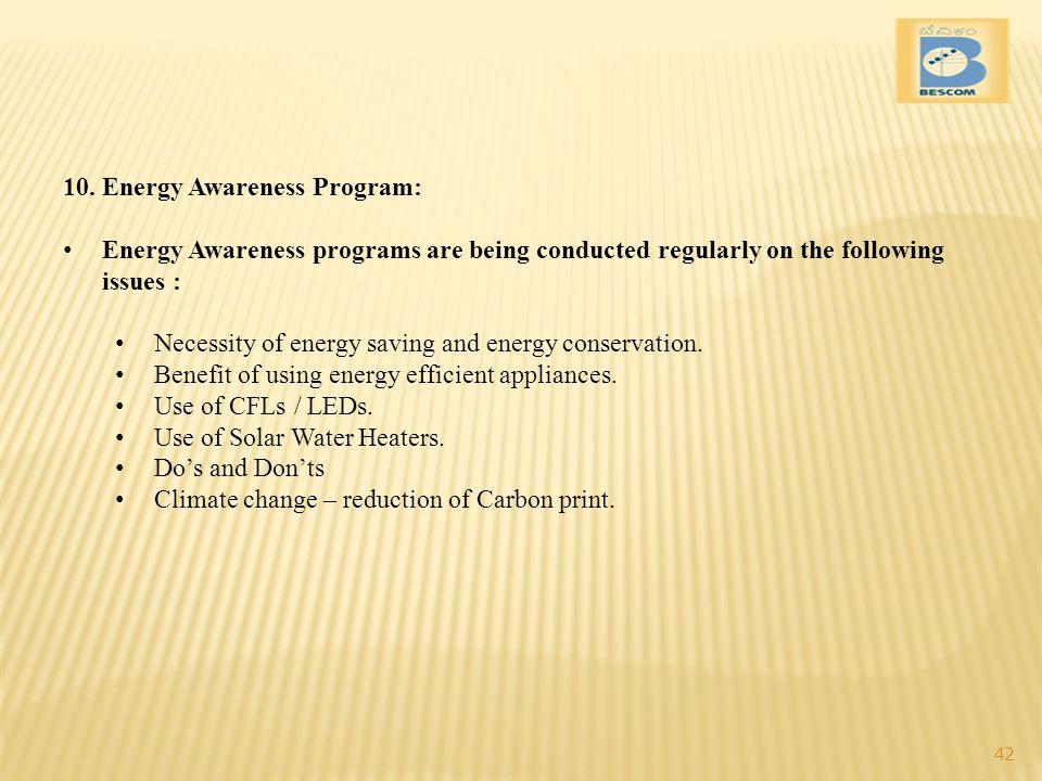 Energy Awareness Program:
