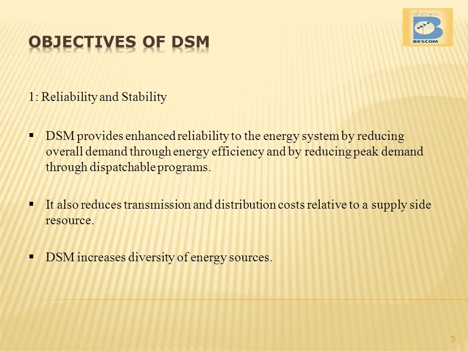 OBJECTIVES OF DSM 1: Reliability and Stability