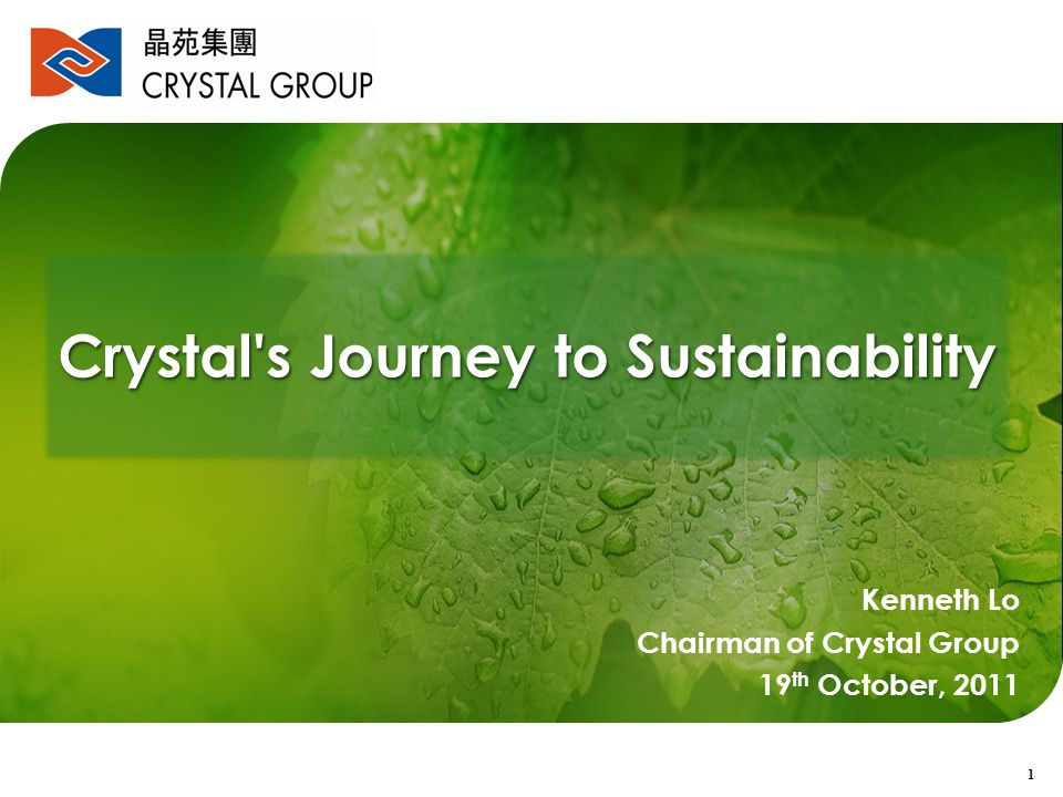 Crystal s Journey to Sustainability