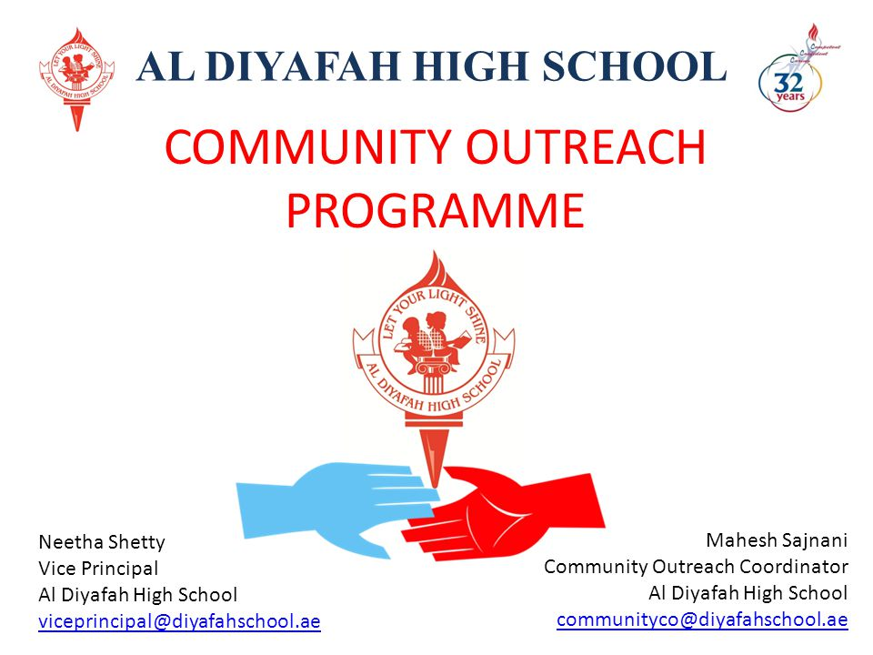 COMMUNITY OUTREACH PROGRAMME