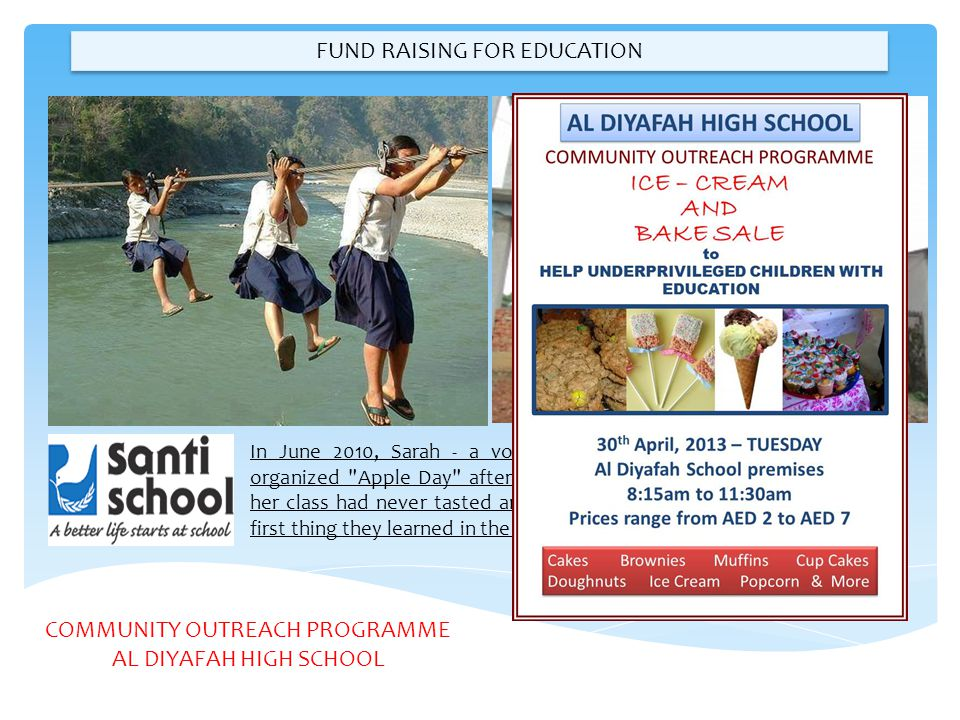 FUND RAISING FOR EDUCATION
