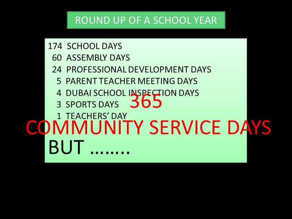 COMMUNITY SERVICE DAYS