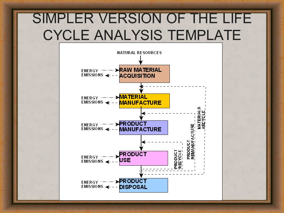 SIMPLER VERSION OF THE LIFE CYCLE ANALYSIS TEMPLATE
