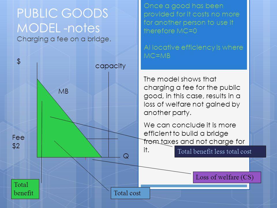 PUBLIC GOODS MODEL -notes