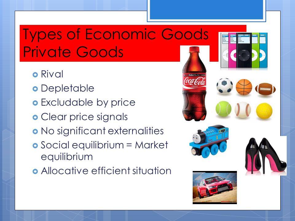 Types of Economic Goods Private Goods