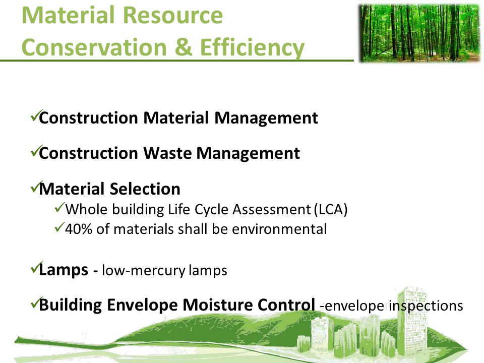 Material Resource Conservation & Efficiency