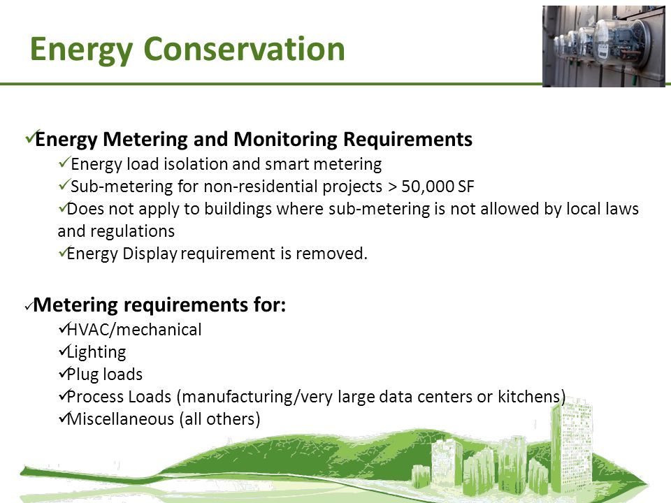 Energy Conservation Energy Metering and Monitoring Requirements
