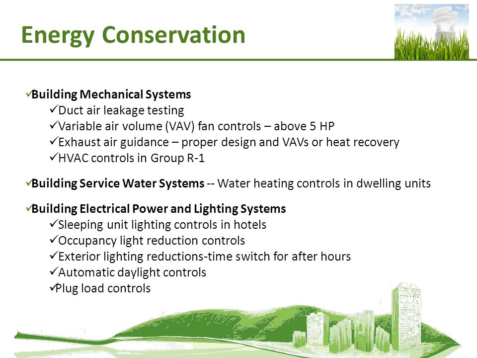 Energy Conservation Building Mechanical Systems