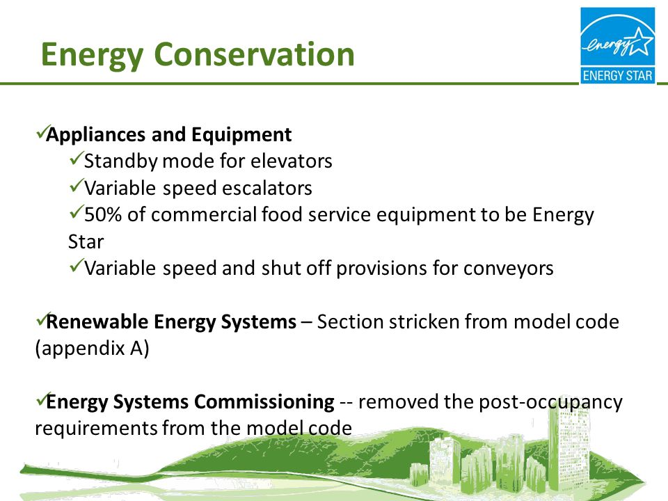 Energy Conservation Appliances and Equipment