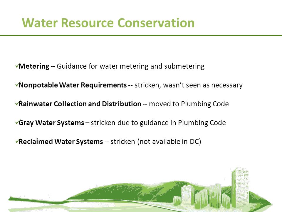 Water Resource Conservation