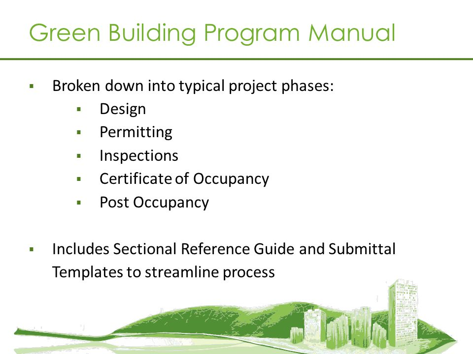 Green Building Program Manual