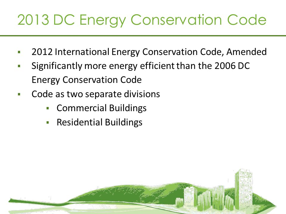 2013 DC Energy Conservation Code