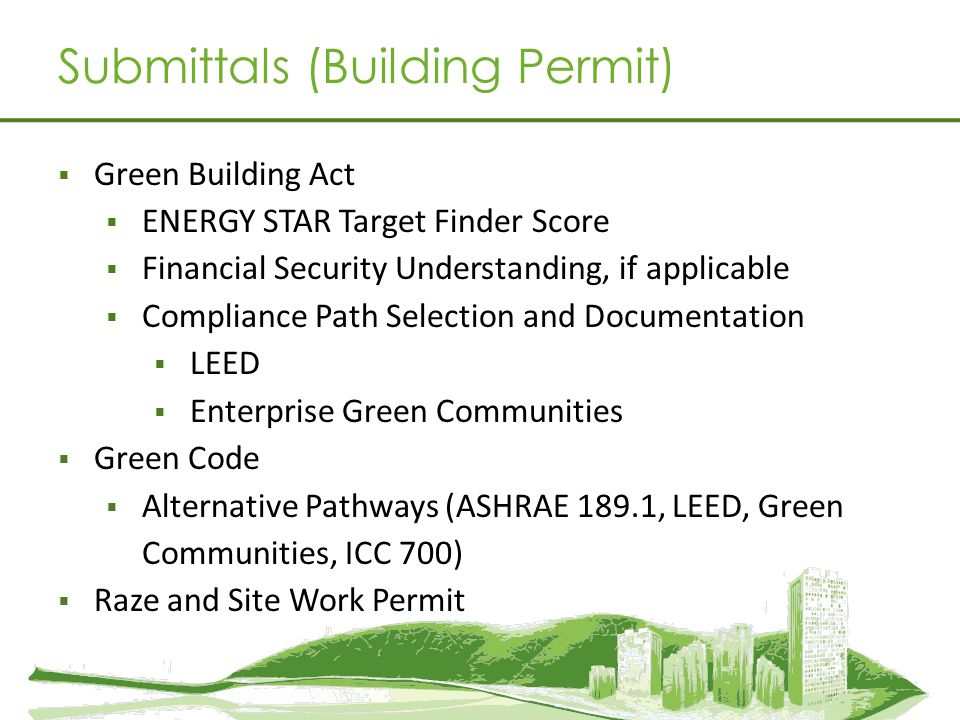 Submittals (Building Permit)