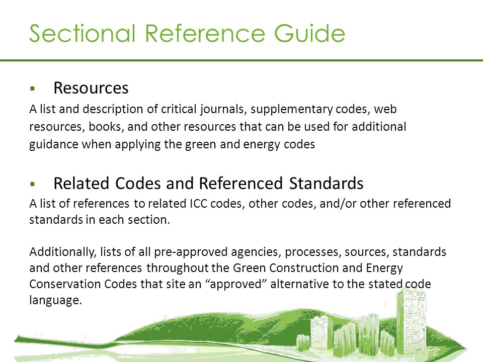 Sectional Reference Guide