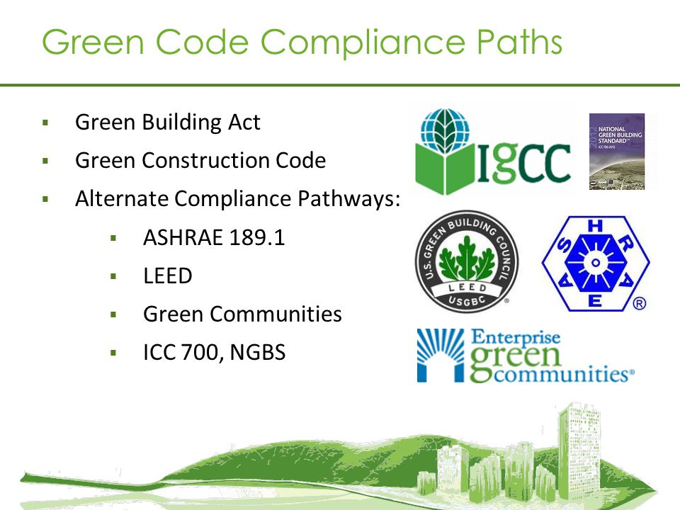 Green Code Compliance Paths