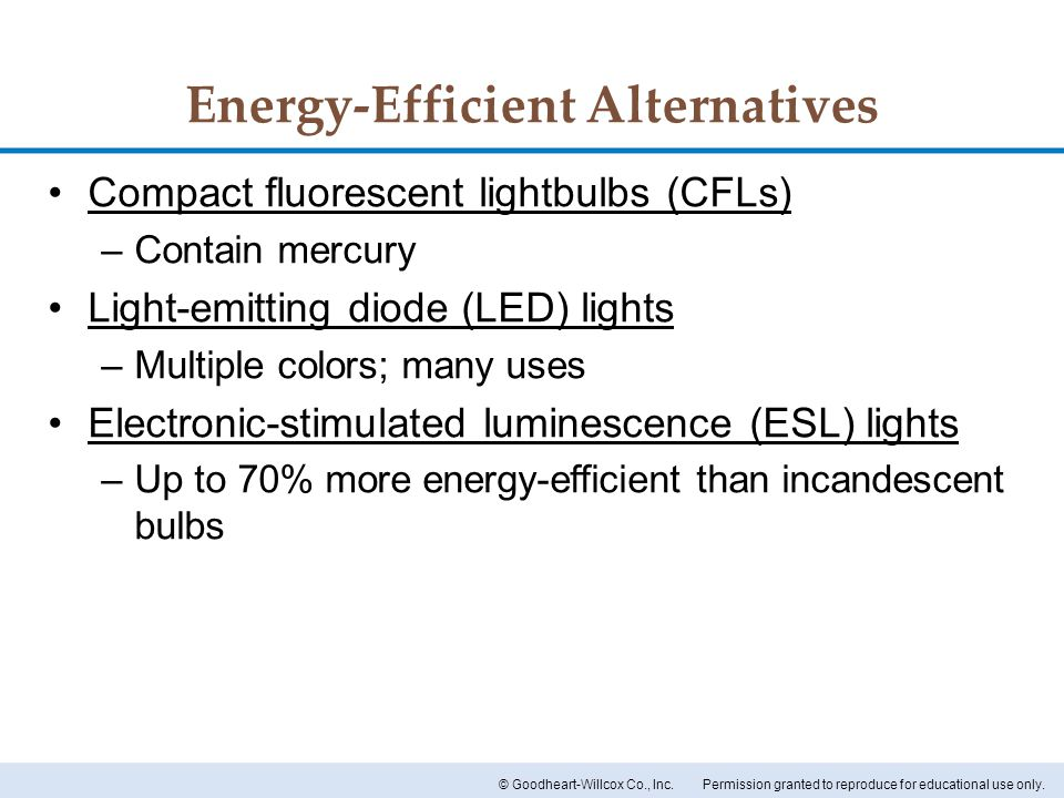 Energy-Efficient Alternatives