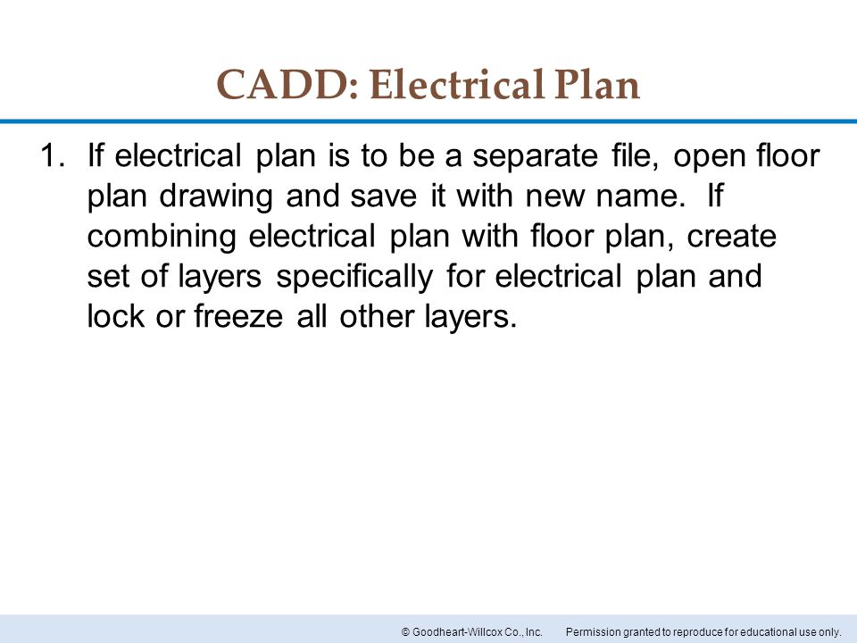 CADD: Electrical Plan