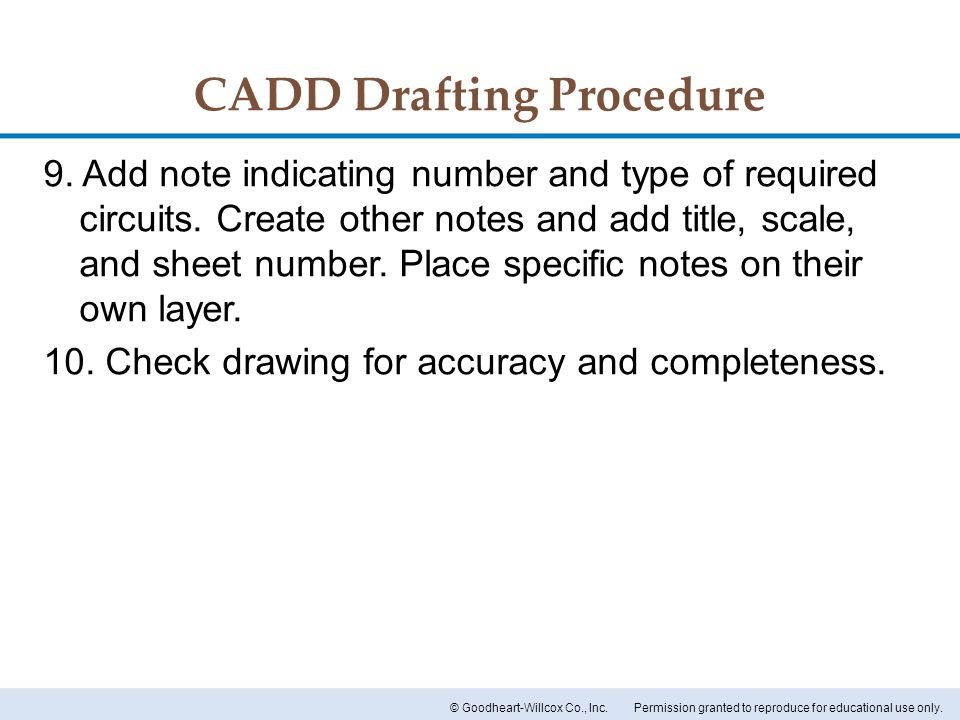 CADD Drafting Procedure